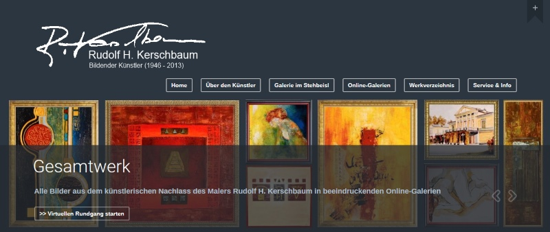 Galerie-Website RudolfKerschbaum.com